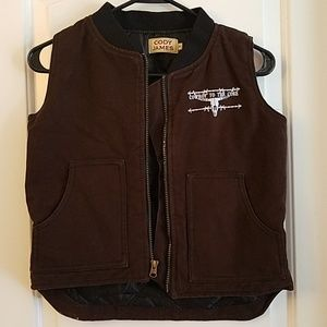 Boys Cody James vest size M